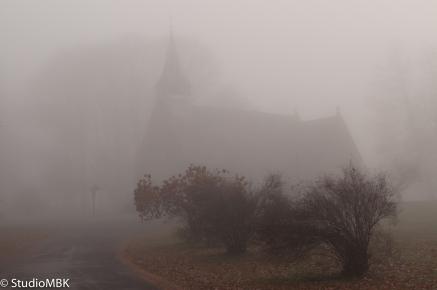 Church, Fog, Beacon NY